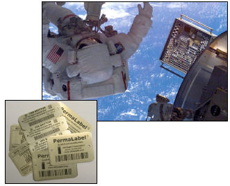 PERMALABEL® Metal Tags in Space